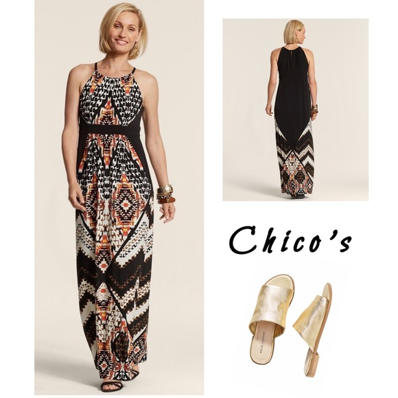 Chico's Dresses & Skirts - Chico's Mixed Tribal Sierra Maxi dress 0 (4/6-S)